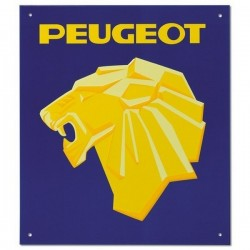Plaque Peugeot Lion