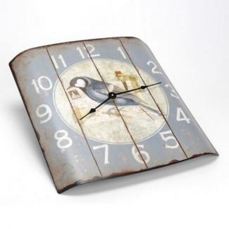 Horloge bombée vieillie ''Bel Oiseau'' 2