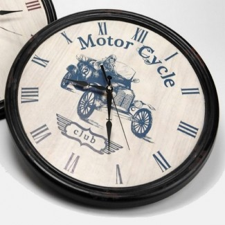 Horloge Club Motor Cycle