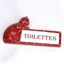 """Plaque de porte chat """"Toilettes"""""""