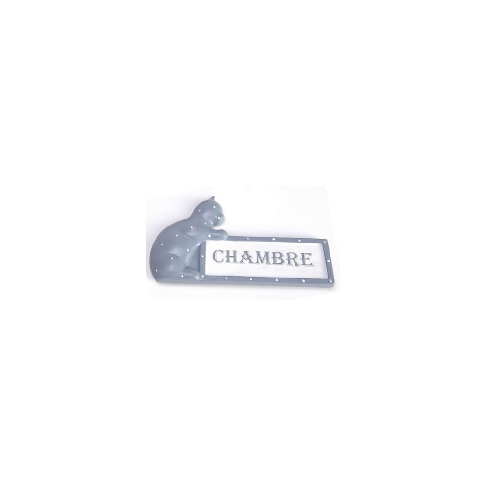 plaque de porte chat petit prix pour la chambre. Black Bedroom Furniture Sets. Home Design Ideas