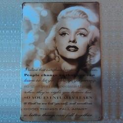 "Plaque ""Phrase célèbre de Marilyn"""