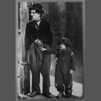Plaque Charlie Chaplin et le Kid