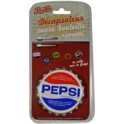 Décapsuleur aimanté Pepsi blanc