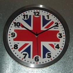 Horloge Alu Brossé Union Jack
