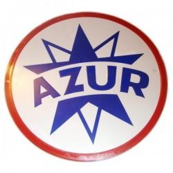 Plaque ronde auto Azur