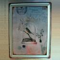 Plaque en relief vintage Oiseau