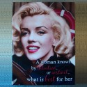 Toile tendue Marilyn - A woman knows