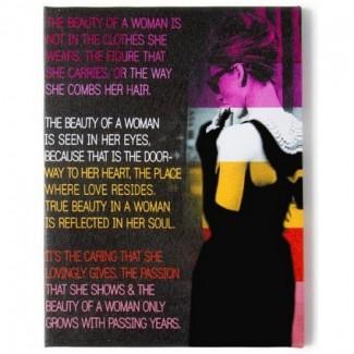 Toile tendue imprimée Audrey Hepburn - Beauté d'une femme