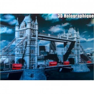 Affiche 3D relief Tower Bridge