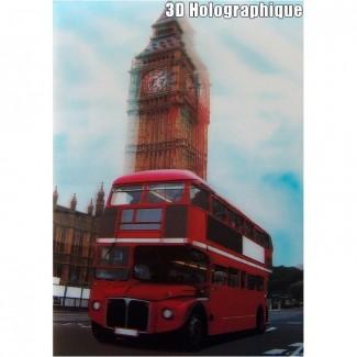 Affiche 3D relief Bus et Big Ben à Londres