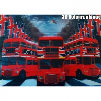 Affiche Bus Routemasters Anglais 3D Relief