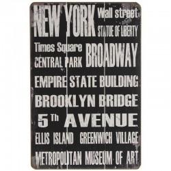 """Déco murale en bois """"New York"""""""