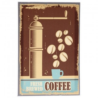 Cadre toile rétro Fresh Brewed Coffee