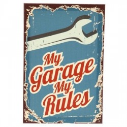 "Cadre toile ""My Garage My Rules"""