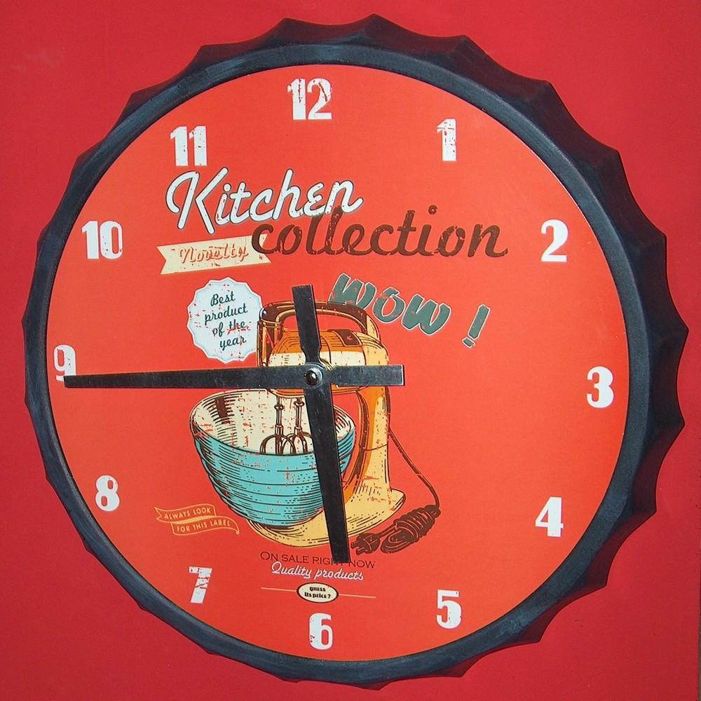 Impressionnant pendule deco pour cuisine id es de design for Castorama horloge
