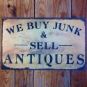 Plaque métal Buy Junk & Sell Antiques