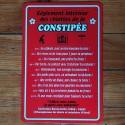 Plaque Règlement des W.C. de la Constipée