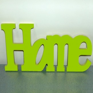 Déco murale en bois vert anis Home