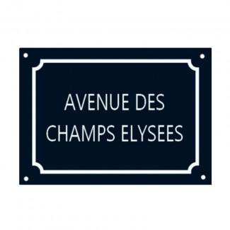 Plaque Avenue des Champs-Elysées