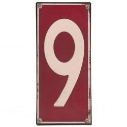 Plaque métal numéro 9
