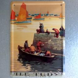 Plaque métal Ile Tudy Finistère