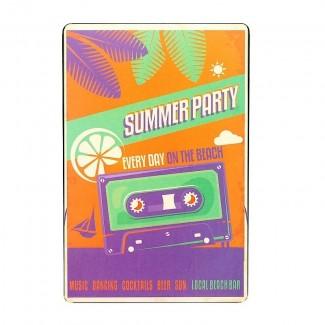 Plaque métal Summer Party