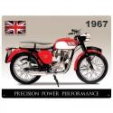 Plaque métal glossy Triumph Tiger Cub