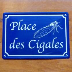 Plaque Place des Cigales