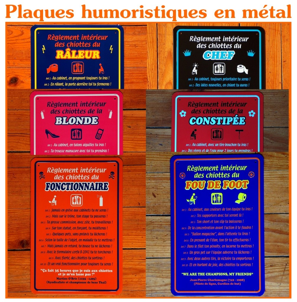 Plaques humoristiques pour les toilettes le blog de www - Tableau humoristique pour wc ...
