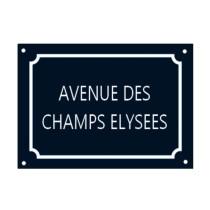 Plaque Avenue des Champs Elysées
