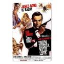 Plaque James Bond Bons Baisers de Russie