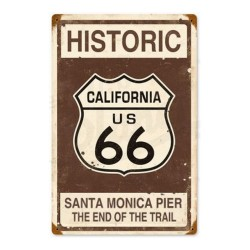 Plaque Historic Route 66 California