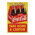 Plaque Coca-Cola Take Home A Carton