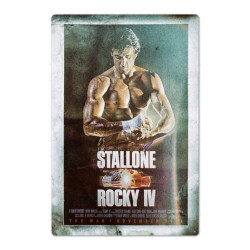 Plaque Rocky IV Stallone