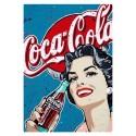 Plaque Coca-Cola Pop Girl