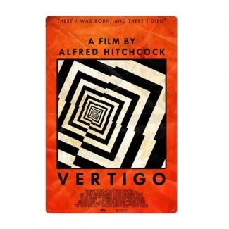 Plaque Film Vertigo Hitchcock