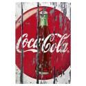 Plaque Coca-Cola Mur en Bois