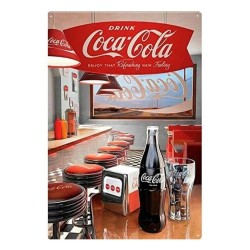 Plaque Coca-Cola Diner
