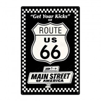 Plaque Route 66 Main Street Of America