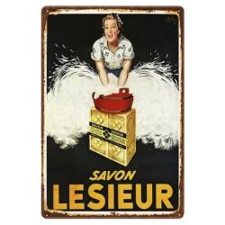 Plaque rétro Savon Lesieur