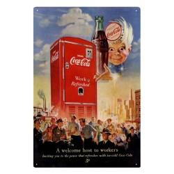 Plaque Coca-Cola Frigo