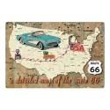 Plaque Itinéraire Route 66