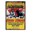 Plaque Boxe WWC Duran Vs Leonard