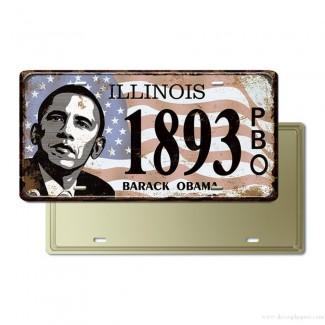 Plaque Immatriculation Illinois Barack Obama