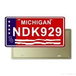 Plaque minéralogique USA Michigan