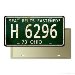 Plaque voiture US rétro en métal Ohio