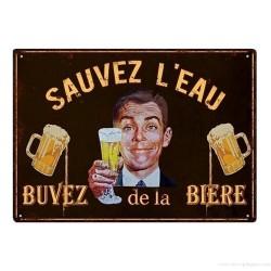 Plaque Sauvez l'eau, buvez de la bière