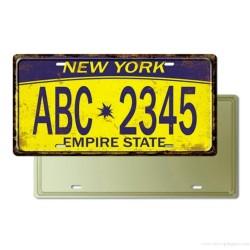 Plaque Immatriculation New York USA