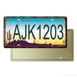 Plaque Immatriculation Arizona USA